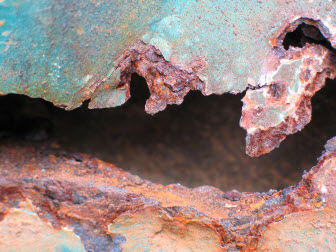Rusty, oxidized metal. This is similar to what free radicals do to your body without antioxidants.